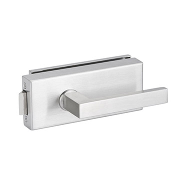 Glass door lever lock